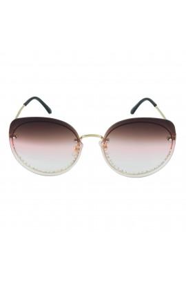 Ochelari de soare, cu pietricele, Roz degrade, de dama, model fashion, OCS205