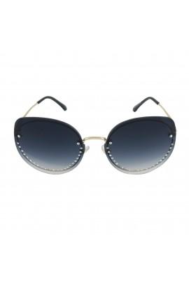 Ochelari de soare, cu pietricele, Gri degrade, de dama, model fashion, OCS206