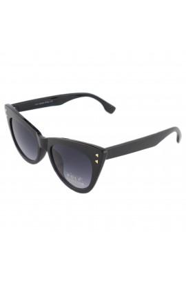 Ochelari de soare, dama, Cat eye, Negru cu lentila gri, UV400  - OCS210