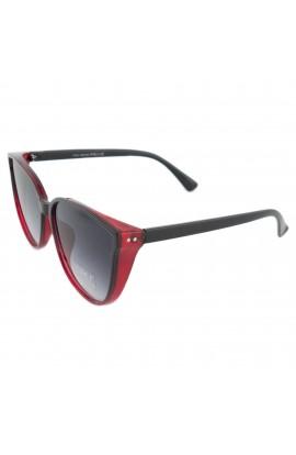 Ochelari de soare, dama, Negru / Rosu, Potectie UV400, lentila gri degrade - OCS217