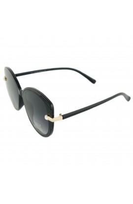 Ochelari de soare, dama, Negru, cu strasuri, lentila gri gri degrade, protectie UV400 - OCS222