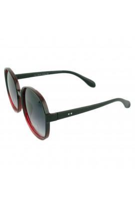 Ochelari de soare, dama, Negru / Rosu, Potectie UV400, lentila gri degrade - OCS228