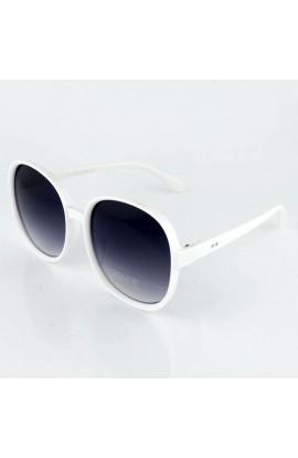 Ochelari de soare, dama, Alb, Potectie UV400, lentila gri degrade - OCS230