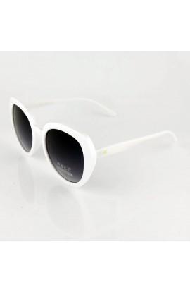 Ochelari de soare, dama, Alb, Potectie UV400, lentila gri degrade - OCS242, OCS242