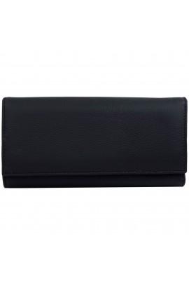 Portofel de dama, negru din piele naturala, Tita - PR122