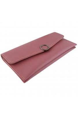 Portofel dama, piele ecologica, roz granat, 19 x 9.5 x 1 cm - PR135