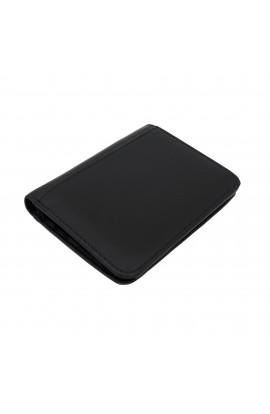 Portofel barbatesc, Negru,  piele naturala, 12 x 9 x 1.5 cm - PR169