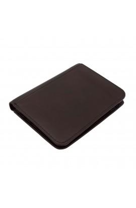Portofel barbatesc, Maro inchis, piele naturala, 12 x 9 x 1.5 cm - PR170