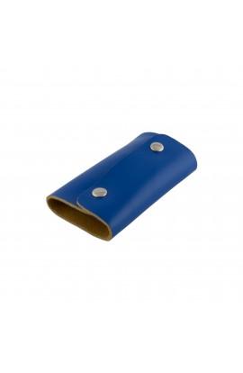 Port chei, Albastru , din piele naturala - PR181