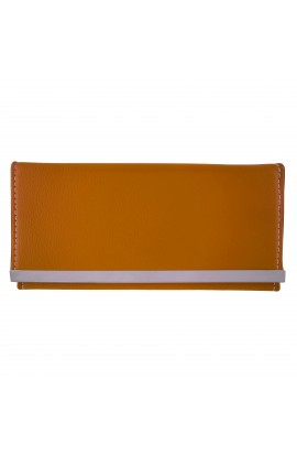 Portofel dama, slim, galben mustar, din piele ecologica 18 x 9 x 1 cm - PR22
