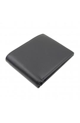 Portofel barbatesc, Tita din piele naturala, negru, 13 x 10x 2.5 cm - PR250