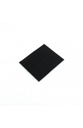 Port card unisex, din piele naturala, 10 x 8 cm, Negru - PR279