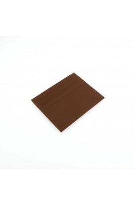 Port card unisex, din piele naturala, 10 x 8 cm, maro deschis - PR280