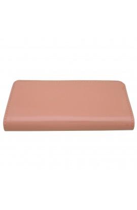 Portofel dama, roz piersica lacuit, 20x10x3 cm - PR73