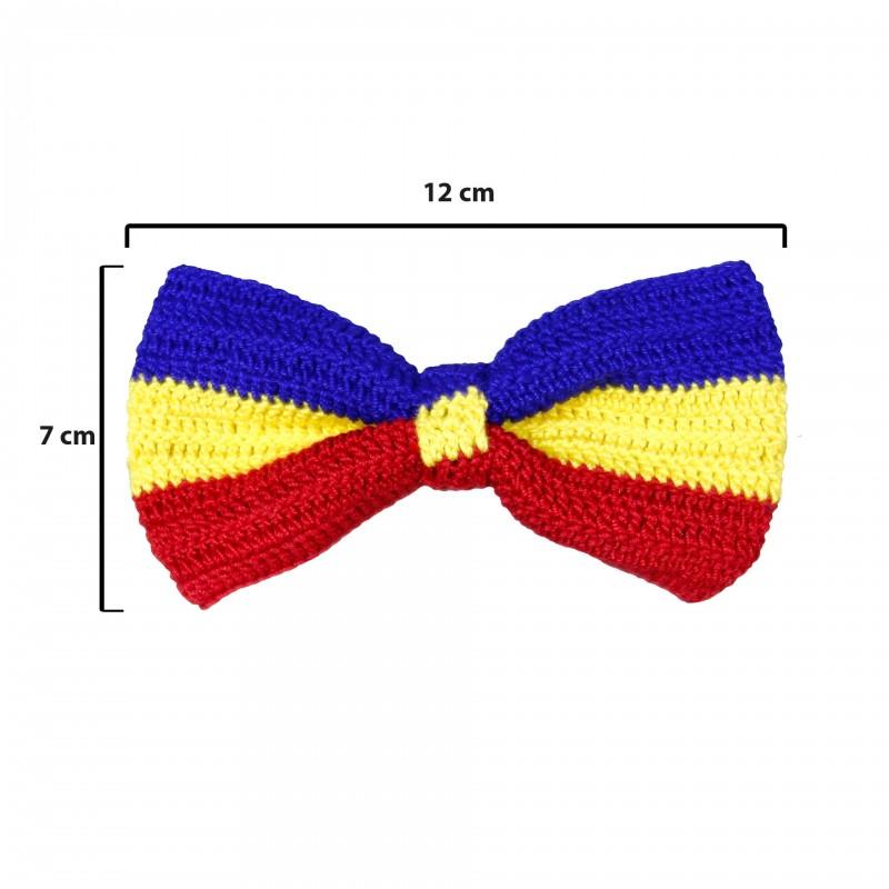 Papion tricolor, unisex, Buticcochet, crosetat manual